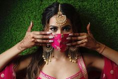 Top 10 Ready To Wear Designer Mask Brands For Indian Wedding Guests ! - Witty Vows Bridal Looks, Designer Wear, Bridal Accessories, Vows, Ready To Wear, Indian, Bride, Hair Styles, How To Wear