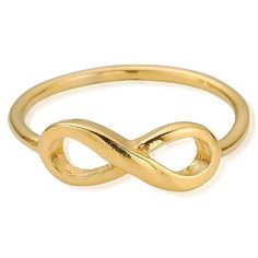 ChloBo Sun Dance Cherish Infinity Ring - Gold (72 CAD) ❤ liked on Polyvore featuring jewelry, rings, accessories, gold, yellow jewelry, infinity ring, gold rings, gold infinity ring and chlobo