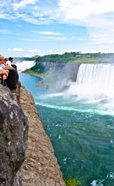 Niagara Falls, Canada. It's so lovely there. The gardens on the Canadian side are awesome!