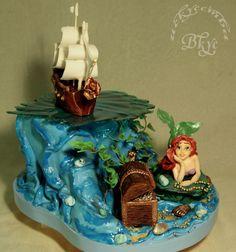 - Cake on the cartoon Ariel.