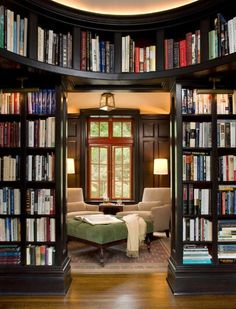 Library. No matter where I live, I will always have a place for all of my books. But I library would be awesome.