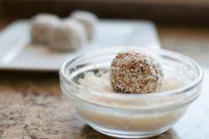 Cranberry orange coconut bliss balls For more recipes and inspiration, visit:  www.makeloveinthekitchen.com