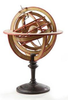 4d5dfe51b48 DELAMARCHE Sphère armillaire ptolémaïque en bois habillé de gravures à -  Société de ventes aux enchères