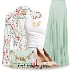 pleated mint maxi skirt