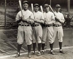 Murderer's Row 1927 Yankees  http://90feetofperfection.com/2010/08/26/jfk-mickey-murderers-row-and-the-alou-brothers/
