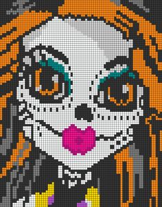 Skelita Calaveras - Monster High perler bead pattern