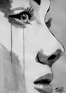 Bedazzling And Beautiful World Of Black And White Art &; Bored Art Bedazzling And Beautiful World Of Black And White Art &; Bored Art Julia De Windenat JuleWoooah Arts Anime and stuff […] Painting classic Crying Girl Drawing, Cry Drawing, Painting & Drawing, Crying Girl Sketch, Life Drawing, Body Painting, Sad Sketches, Sad Drawings, Drawing Sketches