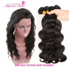 3/4 Bundles With Closure Alipearl 360 Lace Frontal Closure With Bundles Pre Plucked With Baby Hair Brazilian Body Wave 3 Bundles With 360 Frontal Remy 2019 Latest Style Online Sale 50%
