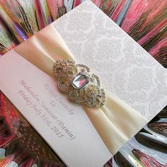 invitation letter for china Picture - More Detailed Picture about Luxurious  Boxed Flocked Wedding Invitations With Rhinestone Brooch PA005 Picture in  Cards ... 8c038b5207b6