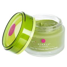 Volcanic Mud Facial Mask with Matcha Green Tea Extract. Hokkuu is the MIRACLE IN A JAR! Combines antioxidant power with Deep Pore Cleaning volcanic mud action. Cleans and refreshes skin and pores. Green Tea Facial, Best Face Products, Beauty Products, Facial Products, Beauty Tips, Beauty Makeup, Diy Makeup, Beauty Care, Clean Pores