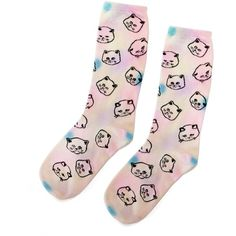 CAT DYE SOCKS ($26) ❤ liked on Polyvore featuring intimates, hosiery, socks, accessories, shoes, cat, tie dye crew socks, tie dyed socks, tye dye socks and tie-dye socks