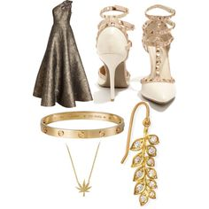 A fashion look from November 2014 featuring Andrew Gn gowns, Wild Diva pumps and Cartier bracelets. Browse and shop related looks.