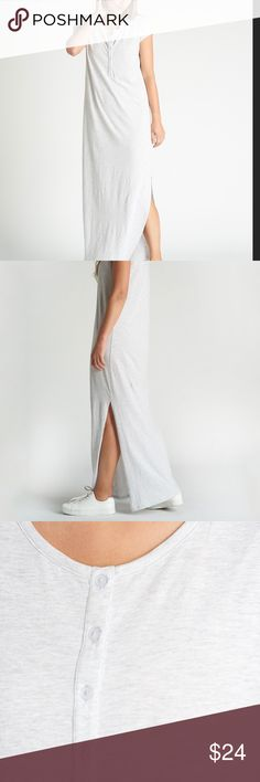 100% Cotton Short Sleeve Maxi Dress With Henley NWT Sample From Our Showroom Fabric: 100% cotton Size: small  Retail price is $65 Dresses Maxi