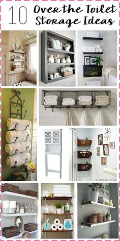 Bathroom Storage: Over the toilet storage ideas! #organization #bathroom #storage
