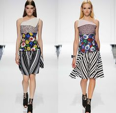 Christian Dior 2015 Resort Womens Runway Presentation - 2015 Cruise Pre Spring Fashion Show Pre Collection Brooklyn New York Catwalk - Handkerchief Hem Scarves Sailor Collar Dress Multi Panel Stripes Flowers Florals Print Motif Spaghetti Noodle Strap Fold Over Tweed Asymmetrical Sandals Sleeveless Coatdress Jacketdress Frayed Mesh Peek-A-Boo Lace Grid Lattice Crochet Doily Bib Patches Square Patchwork Artwork Painting Watercolor Outerwear Coat