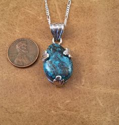 Pendant Sterling Silver Turquoise n