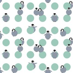 Baby Penguin Polka fabric by victorialasher on Spoonflower - custom fabric