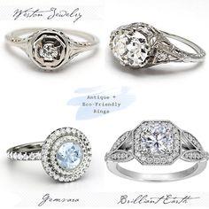 Antique Engagement Rings #anillos y #alianzas de #boda