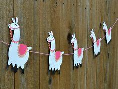 Llama Banner -- choose your colors! Alpaca, Mexico, Peru, International, Global, Desert, Baby Shower, Nursery, Birthday Party by WallOnTheFly on Etsy https://www.etsy.com/listing/549986319/llama-banner-choose-your-colors-alpaca
