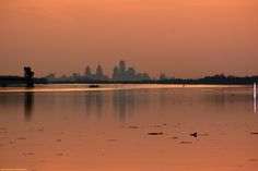 Philly Skyline at Sunset from Logan's Point.