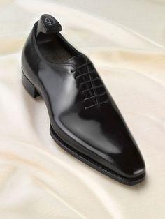 Salvatore Ferragamo Classic tuxedo black oxfords. $995.00