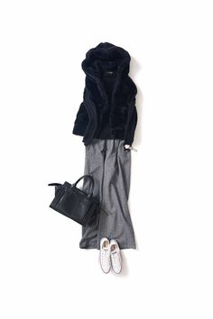Easy, chic and cute! Winter Mode Outfits, Cute Fall Outfits, Winter Fashion Outfits, Autumn Winter Fashion, 60 Fashion, Modest Fashion, Fashion Pants, Daily Fashion, Womens Fashion