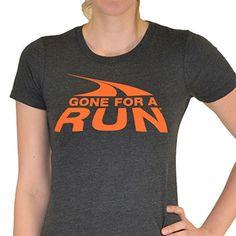 Womens Everyday Runners Tee Gone For A Run Logo (Orange) | Running Womens Cotton Tshirts
