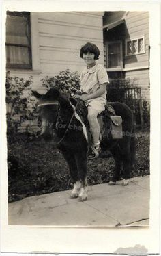 Vintage-Old-1930s-Photo-Cute-Little-Dark-Haired-Girl-Riding-Darling-PONY-Shot Pony Rides, Character Ideas, Writing Prompts, 1930s, Magic, Vintage, Couple Photos, Dark, Cute