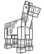 Minecraft Coloring Pages Pictures Topcoloringpages Net Horse Coloring Pages Horse Coloring Minecraft Coloring Pages