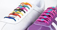 Link2...HICKIES - an elastic lacing system that replaces traditional shoelaces and lets you easily slip in and out of your shoes while keeping them snug and secure. Never tie or untie your shoes again! Get rid of the bows and customize your footwear.