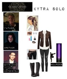 """""""Me in """"Star Wars:The Force Awakens"""""""" by c-a-marie2000 ❤ liked on Polyvore featuring Superfine, Free People, Maybelline, NOVICA, Naturalizer and starwars"""