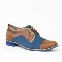 Chaussures homme San Diego Camel Bleu 3 Kdopa de style casual, en cuir de  grande 91487485c511