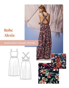 12 inspiring couture projects for summer 2019 Cha's Hands Girl Dress Patterns, Blouse Patterns, Skirt Patterns, Diy Couture Patron, Handmade Clothes, Diy Clothes, Maxi Dress Tutorials, Diy Vetement, Couture Sewing