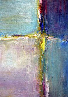 Blue Quarters Abstract Art Prints by Nancy Merkle