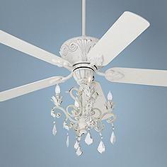 Casa Deville™ Rubbed White Chandelier Ceiling Fan