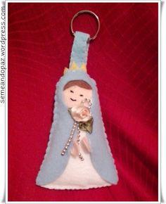 Chaveiro de Nossa Senhora em feltro