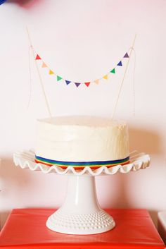 Rainbow cake - I like the simplicity
