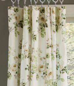 English Garden Floral Jacquard Kitchen Curtain Panels - Google Search