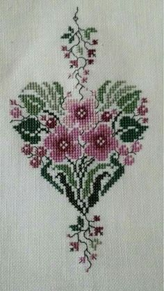This Pin was discovered by Тат Cross Stitch Boards, Cross Stitch Tree, Cross Stitch Needles, Cross Stitch Heart, Cross Stitch Flowers, Embroidery Hearts, Cross Stitch Embroidery, Cross Stitch Designs, Cross Stitch Patterns