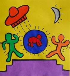 Artsonia Art Gallery - Keith Haring Pop Art