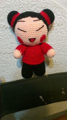 Amigurumi Pucca - FREE Crochet Pattern / Tutorial How cute is this? Amigurumi Patterns, Amigurumi Doll, Crochet Patterns, Crochet Stars, Free Crochet, Pokemon, Japanese Quilts, New Dolls, Crochet Slippers