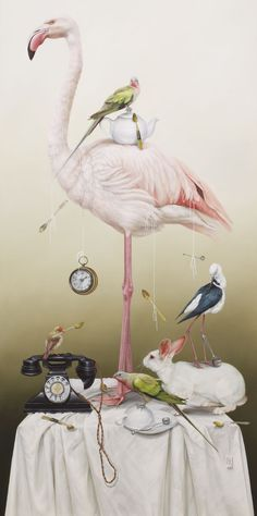 Croquet, Tea Parties and Other Stories from Wonderland II, 2013Oil on canvas170 x 85 cm Sir John Sulman Prize Finalist, 2013, Art Gallery of NSW
