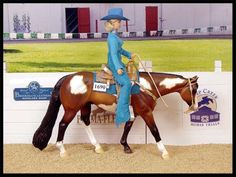 Western Pleasure - the rider is in correct position - by Susan Hargrove - model horse