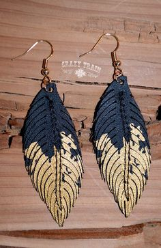 nice The Golden Leather Feather Black Leather Earrings, Leather Jewelry, Earrings Handmade, Handmade Jewelry, Diy Leather Projects, Leather Art, Fantasy Jewelry, Fabric Jewelry, Leather Accessories