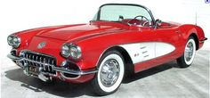57 corvette. this little girl's first favorite car.