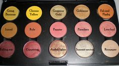 MAC Warm Yellow and Brown Eyeshadow Collection Palette - older shades, some d/c #makeup #MAC #eyeshadow