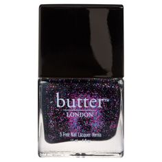 butter LONDON Nail Lacquer The Black Knight (11ml) ($18) ❤ liked on Polyvore featuring beauty products, nail care, nail polish, nails, makeup, beauty, fillers, backgrounds, butter london nail lacquer y butter london