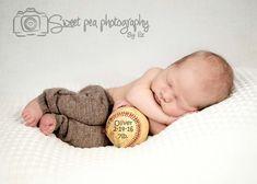 Newborn Baby Boy, Baseball, Baby Stats, Sweet Pea Photography, Norwalk, OH