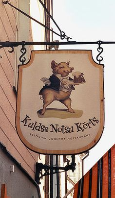 KULDSE NOTSU KORTS (Golden Piggy Wrinkle) Estonian Country Restaurant in Tallinn, Estonia