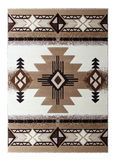 Native American Area Rug 8 Ft. X 10 Ft. Ivory Design  #HomeDecoration